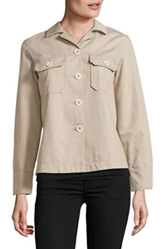 Weekend Max Mara Tamaro Lightweight Cotton/Linen Khaki Cargo Jacket Blazer - 4 (38)