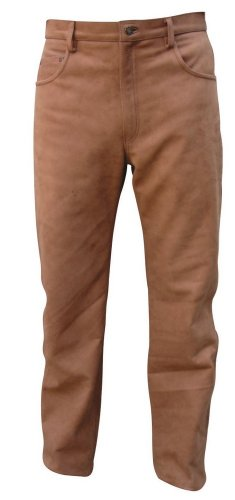 - Men's AL2505 five pocket pants plain 38 Brown