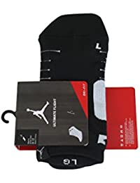 SX5420-010 MEN ULTIMATE FLIGHT ANKLE SOCK JORDAN BLACK WHITE