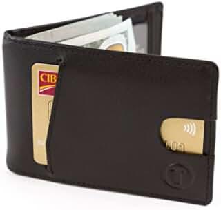 Travami RFID Blocking Slim Minimalist Money Clip Wallets for Men