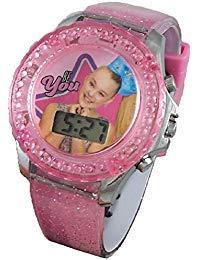 JoJo Siwa Glitter Rotating Flash Kids LCD Watch
