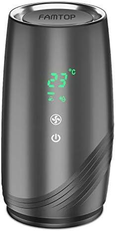 FAMTOP Purificateur d'Air Anion, avec Réel HEPA Filtre à Charbon Actif, Mode Veille, Chargement USB, Faible Décibel, Elimine 99,97% de Fumée, Moisissure, Pollen,Poils d'animaux pour Maison