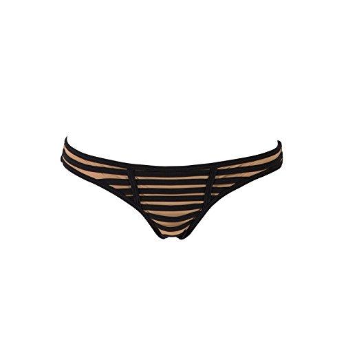 Beach Bunny Women's Hard Summer Skimpy Bikini Bottom, Black, S