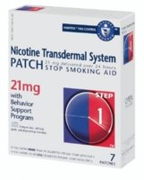 Habitrol Nicotine Transdermal System Step 1, 21mg Stop Smoking Aid Patch - 7 ea