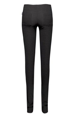 NEW para mujer, ropa de descanso para niñas negro EXTRA larga 88,9 cm patas de madera de para la escuela con cremallera pantalones de trabajo para adaptarse al cuerpo de pelo fino de