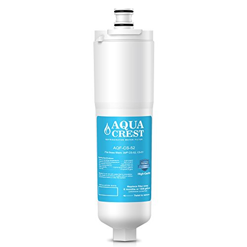 (AQUACREST CS-52 Refrigerator Water Filter, Compatible with 3M Cuno CS-52, CS-51, CS-452, CS-522, CS-532, CS-562, CS450, CS-512, W1085590, 56932, 2168701, 51000, 52000)