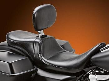Le Pera Daytona 2-Up Smooth Seat with Driver Backrest ()