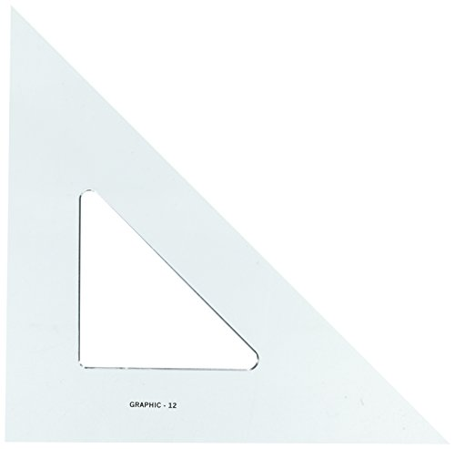"Alvin SK450-12 Smoke-Tint Triangle 45/90 (12"")"
