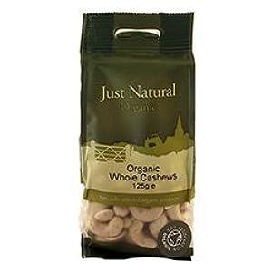 Just Natural Organic Organic Cashews Whole 125g by Just Natural Organic
