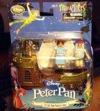 Disney MiniMates Peter Pan Jolly Rodger Pirate Ship Playset Figurine Wendy, Mr Smee