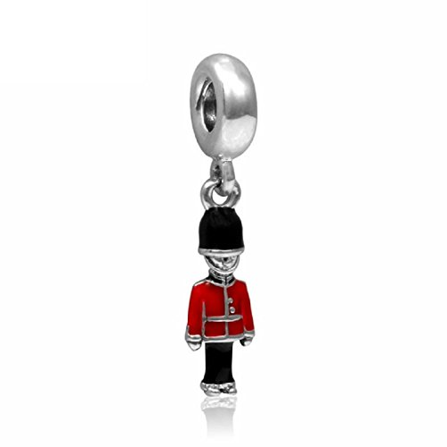 Many Styles To Choose From - Charms Beads Pendents Beads On SALE Best Selling Gifts (Fits Pandora, Troll, Baigi, Chamilia, Zable, & Similar Bracelets Necklaces) (European London Royal Guard Europe)