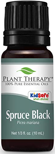 Plant Therapy Spruce Black Essential Oil 10 mL (1/3 oz) 100% Pure, Undiluted, Therapeutic Grade