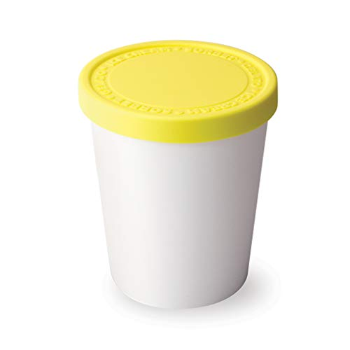 Tovolo Tight-Fitting, Stack-Friendly, Sweet Treat Ice Cream Tub - Lemon (Wine Sweet Coconut)