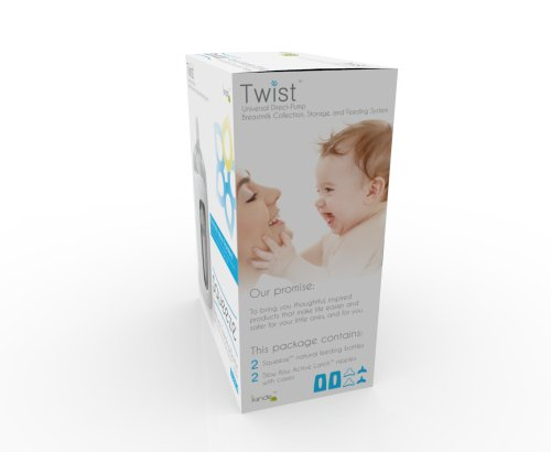 Large Product Image of Kiinde Twist - Squeeze Natural Feeding Bottle with Nipples, 2 Piece