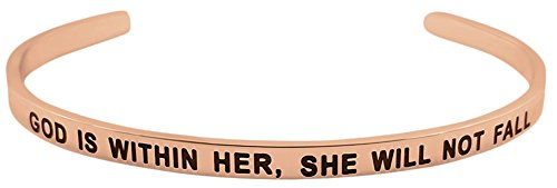 Fearless Affirmation Bracelet - ''GOD is Within HER, SHE Will NOT Fall Psalm 46:5