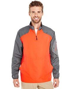 Holloway Sportswear Raider Pullover Windbreaker. 229155 Carbon Print / Orange XL (Sportswear Holloway)