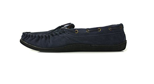 Knights Shamus - Herren Mokassin Schuhe Wildleder Marineblau