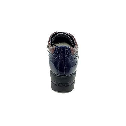 Blu Para Fantasy De Agile Zapatos Cuero Rucoline By Mujer Cordones cAqAUPzOwx