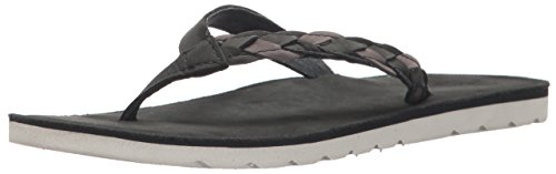 Reef Womens Sandal Voyage Sunset  | Premium Real Leather Flip Flops for Women With Soft Cushion Footbed | Waterproof