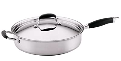 Anolon Advanced Clad 12-Inch, 5-Quart Covered Saute Pan with Helper Handle