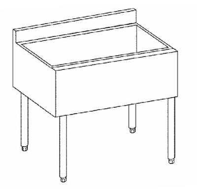 Krowne Metal 18-30 1800 Series Underbar Ice Bin/Cocktail Unit 30