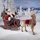 Kurt Adler 10-Inch Santa in Sleigh with Deer