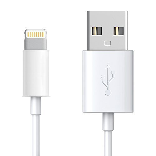 OEM Lightning to USB Cable (3ft) for iPhone7/7 Plus 6/6s Plus 5s/5c/5, iPad Pro Air 2, iPad mini 4 3 2, iPod touch 5th gen / 6th gen / nano 7th gen [Apple MFi Certified] (White)