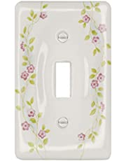 Porcelain Decorative Switch plate, Wall plate, Cover, Flowering Vine _ 3026T