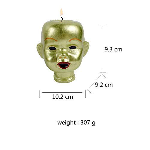 Gano Zen Candle Making 3D Head Portrait Shape Silicone Mold Soap Candle Making Tools Halloween Theme Mould by Gano Zen (Image #2)