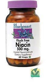 Bluebonnet питание - Ниацин Флеш-Free 500 мг. - 60 Вегетарианская капсулы