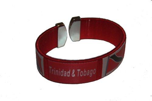 Trinidad & Tobago Red Country Flag THICK C' Bracelet Wristband.. (Trinidad Wristband)