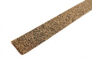 Solid Cork/Rubber Strip (NO ADHESIVE) - .312'' thk x 6'' wide x 10' long by ISA Sales & Service