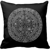 Mayan Aztec Sun Calender On Any Custom Color Pillow Case