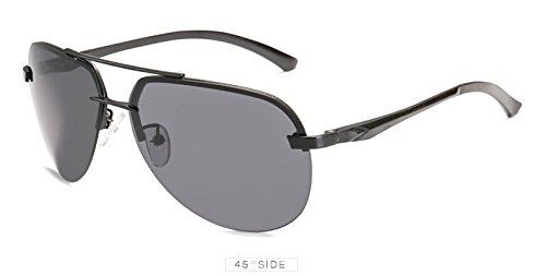 Sun Conducci¨®n polariod piloto Gris Las Negro de Gris la Aviaci¨®n Marca Gafas de 9030 vidrios Mujeres los Deportes polarizadas Hombres Sol de Unisex Negro de para Pynxn Oculos Espejo de ZHBqxwC
