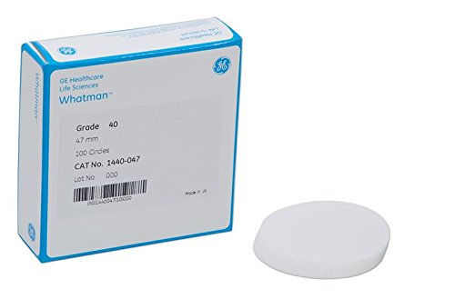 Filter Paper, Ashless, Grade 40, 18.5cm (Package of 100) by Whatman
