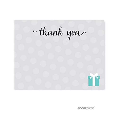 Andaz Press Baby & Co. Baby Shower Collection, Thank You Note Cards, 20-pack