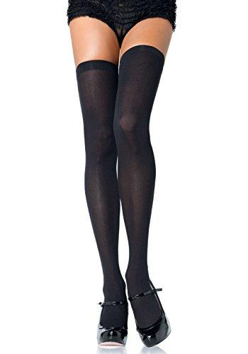 Leg Avenue Womens Solid Hue Thigh Highs