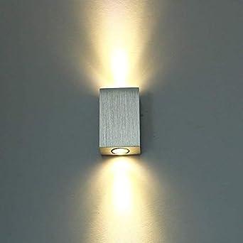 Louvra Applique Murale LED Intérieur 6W Lampe Design Moderne Créatif  Originale Éclairage Lumiaire Décorative Aluminium Pour