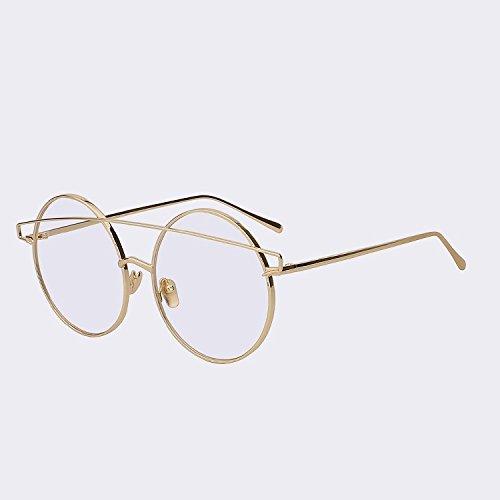 TIANLIANG04 Brille ohne Rahmen in Metallrahmen Frau Sonnenbrille der Jahrgang so Frauen Sonnenbrille Luxury Pink Flash Objektiv Gafas, Silber w Silber