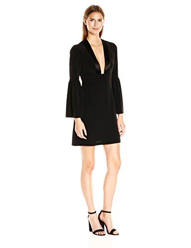 Jill Jill Stuart Women's Deep-V Long-Sleeve Cocktail Dress