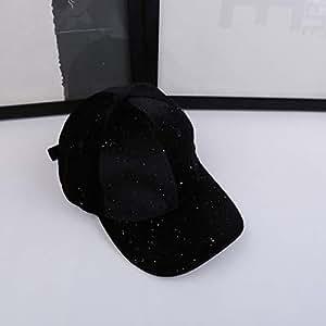 BEESCLOVER Spring Women Bling Flare Soft Velvet Caps Men Adjustable Casual Golf Outdoor Travel Trucker Hat Black One Size