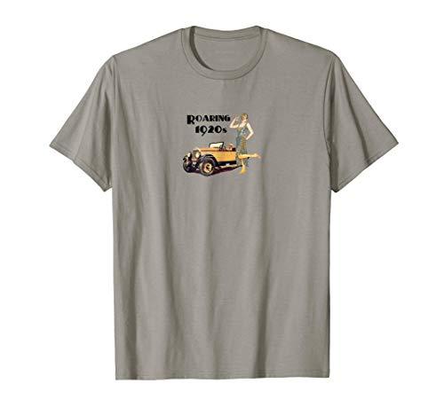 Roaring 20s Vintage Auto Flapper Lady Design shirt ()