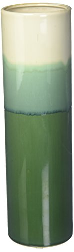 - Deco 79 59926 Cylindrical Green Ceramic Vase, 14