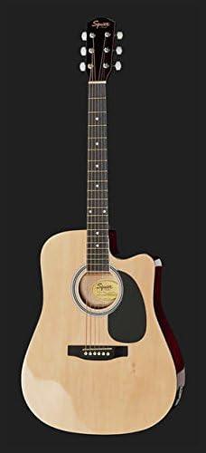Fender Guitarra Acústica Amplificada Natural a Cutaway + Bolsa ...