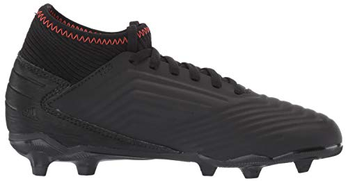 adidas Unisex Predator 19.3 Firm Ground, black/black/active red, 2.5 M US Little Kid by adidas (Image #9)