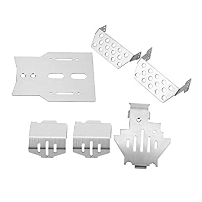 Tbest RC Chassis Armor, 6 Pcs Chassis Armor Protection Plate Guard Chassis Armor Set Compatilbe for Traxxas RC Car: Toys & Games