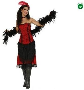Disfraz de Cabaretera. Talla única de Mujer. Incluye: Vestido, Boa ...