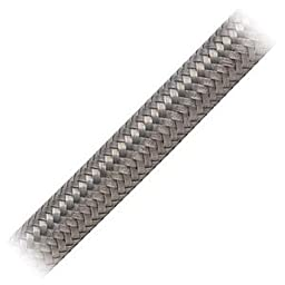 Earl\'s 306008 Auto-Flex HTE Stainless Steel Braid Protected -8AN by 6\' Synthetic Rubber Hose