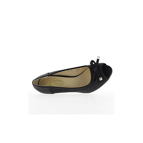 Escarpins femme noirs ouverts à talon de 9cm