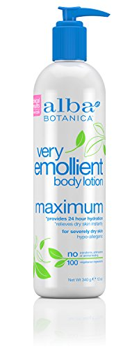 Hydrating Body Lotion Alpha (Alba Botanica Very Emollient, Maximum Body Lotion, 12 Ounce)